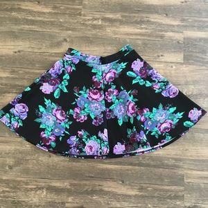 Zumiez Floral Print Skater Skirt
